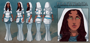 Polyhymnia - Character Reference Sheet by tbdoll