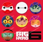 Big Hero 6 Buttons by MadMouseMedia