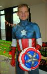 Quick Captain America bodypaint by Bodypaintingbycatdot