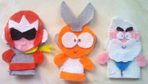 Megaman Finger Puppets - Set 2 by Cuddlesnowy