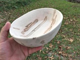 Ambrosia Maple Bowl Sanded Top by lamorth-the-seeker