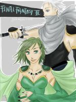 FFIV: Rydia + Edge by GiselleRocks