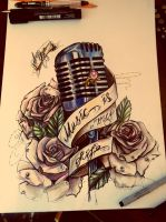 #roses#microphone#musicismylife by Shitachi