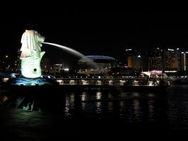 Singapore's Merlion by chibi-L8
