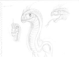 Basilisk sketch by Crystaldemon93