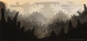 Landscape Speedpainting by ehecod