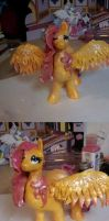 Fluttershy Handmade Clay Sculpture by dreampaw