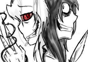 Scissor VS Jeff The Killer (Read Disc) by DJambersky666