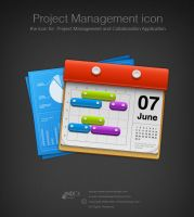 icon for project management by AndexDesign