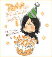 H B-day, Prof Snape by yukipon