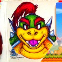 A completed draw and color of Bowser Jr by IggySeymour