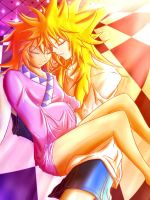 Kyon and Katu chilling out by Kyonne