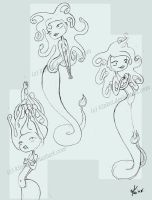 Snake girl sketches by kinkei
