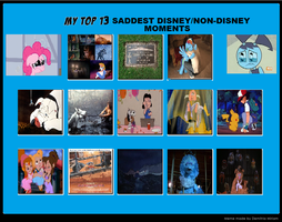 My Top 13 Saddest Disney/Non-Disney Moments by cartoonfanboyone