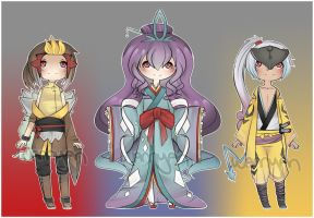 Pokegijinka Trio Auction [CLOSED] by WanNyan
