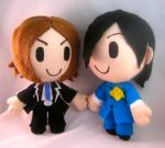 Persona 2: Tatsuya and Jun by PlushMayhem