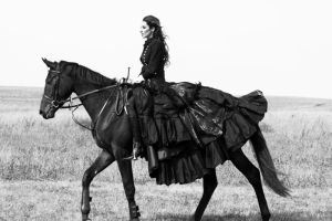 Lady and horse 3 by AngieStock
