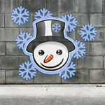 Graffiti Smiley: Snowmann (on the wall) by mondspeer