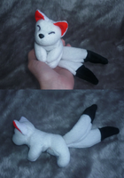 Mini magnet plush: 2-tailed Inari fox by goiku