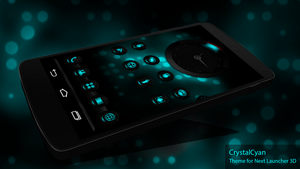Next Launcher Skin CrystalCyan by Karsakoff