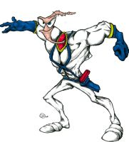 Earthworm Jim coloured by Jimcus