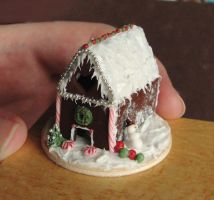 Dollhouse Miniature Gingerbread House by fairchildart
