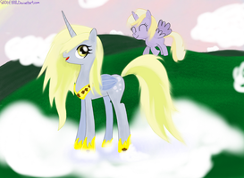 Princess Derpy and Dinky by Sludge888