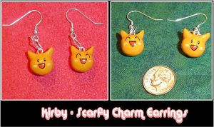 Kirby - Scarfy Charm Earrings by YellerCrakka