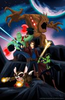 Disneyfied Guardians of the Galaxy by racookie3