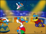 Commission For Zikore* - Smurfette Quartet by WitchyTwinzy