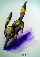 Umbreon Watercolor by Bandxoh