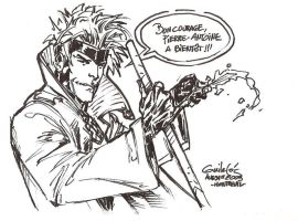Gambit bar sketch by SpiderGuile