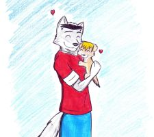 Puppy loves wolfy by PuppyBroAustin
