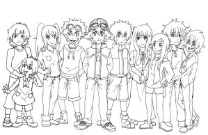 Digimon: The Legacy Continues LineArt by Keymasterc11