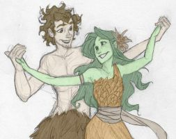 Grover and Juniper (colored) by MoreThanAnArtist