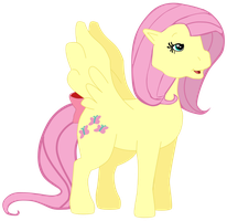 My seventh Fluttershy vector. by Flutterflyraptor