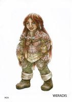 female dwarf D and D character by rebbijenta