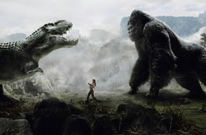 Lara, King Kong and the V-Rex by AlexFly