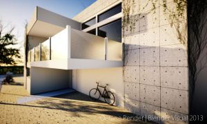 Octane Render Stone House Design 01 by str9led