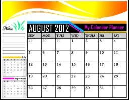 My Calendar Planner for August 2012 by khingfiles