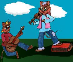 Music with Brigid and Sparks by RoxasRavenswood