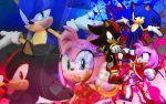 Sonic, Shadow, And Amy - Wallpaper by SonicTheHedgehogBG