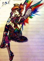 _'Colour Me Crazy, Baby~'_ Angel *Full body* by DetailDevil