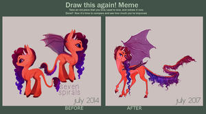 [meme] draw this again 14-17 by sevenspirals