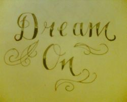 Dream On tattoo by AmyLou31