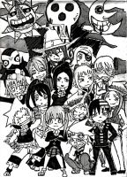 Soul Eater Chibis by 3-WhatsShakin-3