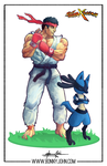 Ryu x Lucario - Pokemon x Street Fighter! by BonnyJohn