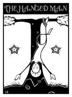 tarot deck - THE HANGED MAN by skeevy