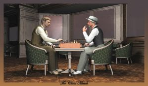 The Chess Match by jbjdesigns