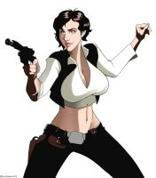 Rule 63 Han Solo (Hana Solo) by iron-dullahan